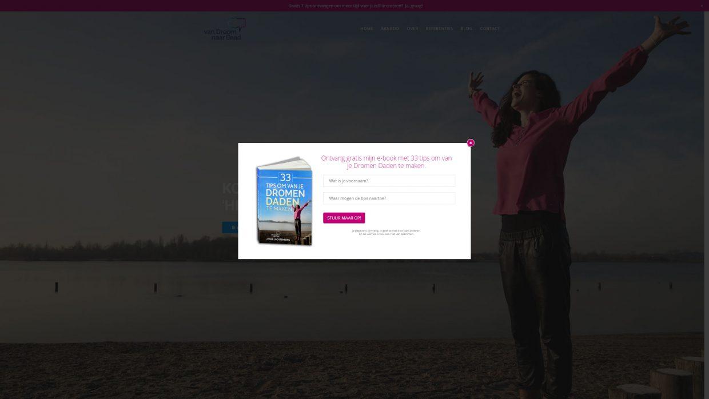 Pop-up voor het aanbieden van het e-book