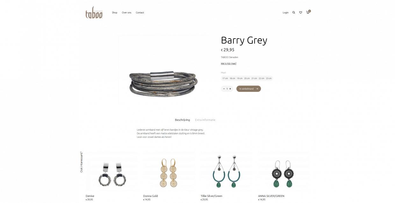 Product pagina van taboosieraden